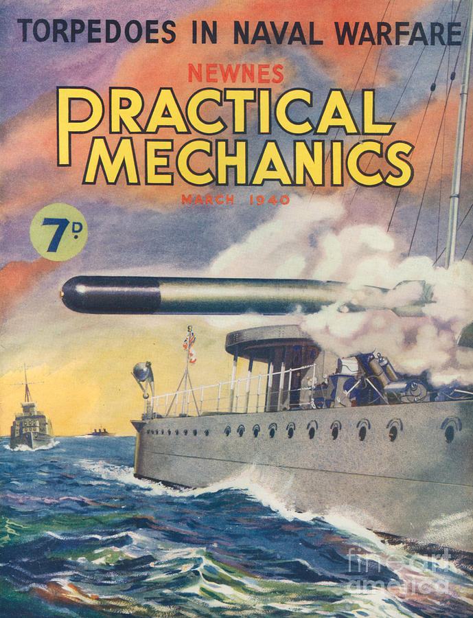 Magazine Cover Drawing - 1940s Uk Practical Mechanics Magazine by The Advertising Archives