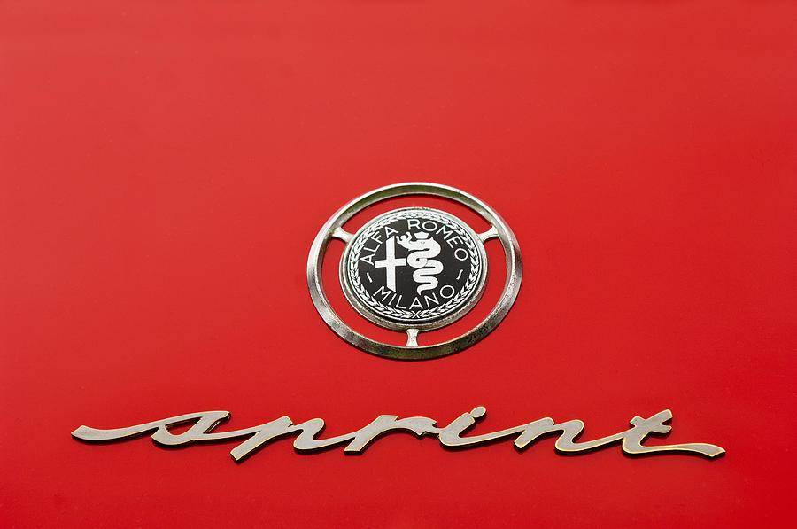 1959 Alfa Romeo Giulietta Sprint Emblem Photograph