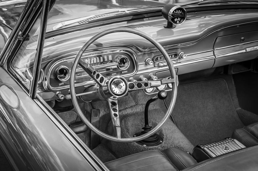 1963 Ford Falcon Sprint Convertible Bw  Photograph
