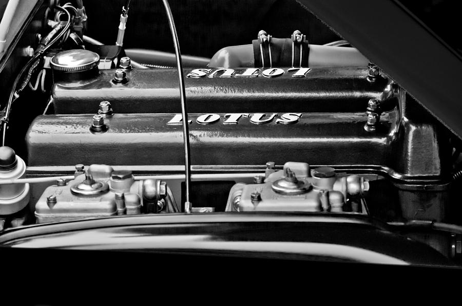1965 Lotus Elan S2 Engine Photograph  - 1965 Lotus Elan S2 Engine Fine Art Print