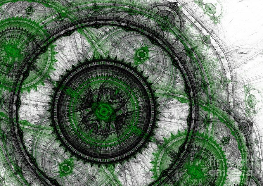 Abstract Mechanical Fractal Digital Art