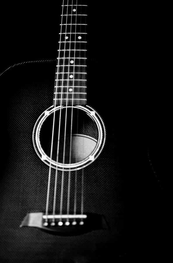 acoustic guitar black and white artistic image photograph by jani bryson. Black Bedroom Furniture Sets. Home Design Ideas