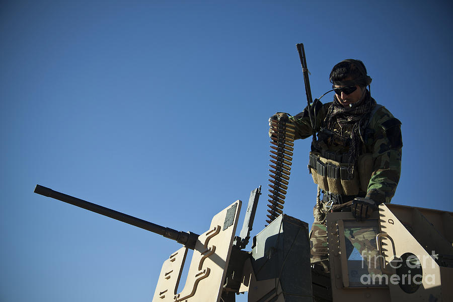 An Afghan National Army Soldier Photograph  - An Afghan National Army Soldier Fine Art Print