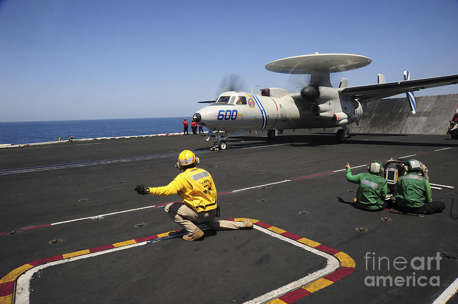 An E-2c Hawkeye Launches Photograph