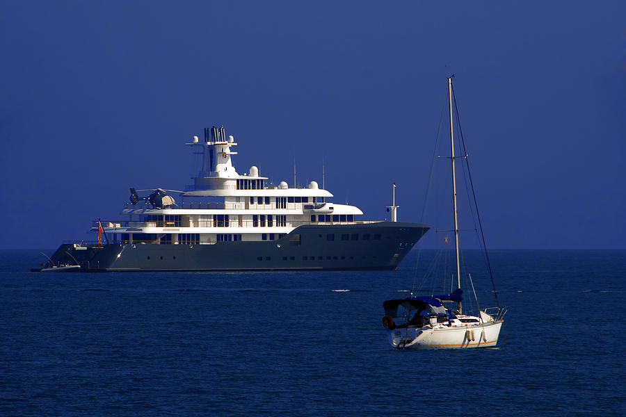 Antibes - Superyachts Of Billionaires Photograph  - Antibes - Superyachts Of Billionaires Fine Art Print
