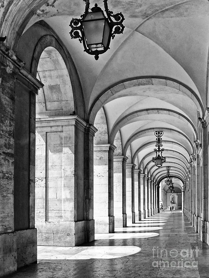 Arcades Of Lisbon Photograph