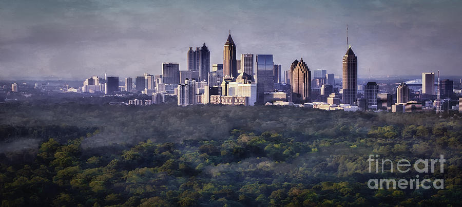 Atlanta Skyline Photograph  - Atlanta Skyline Fine Art Print