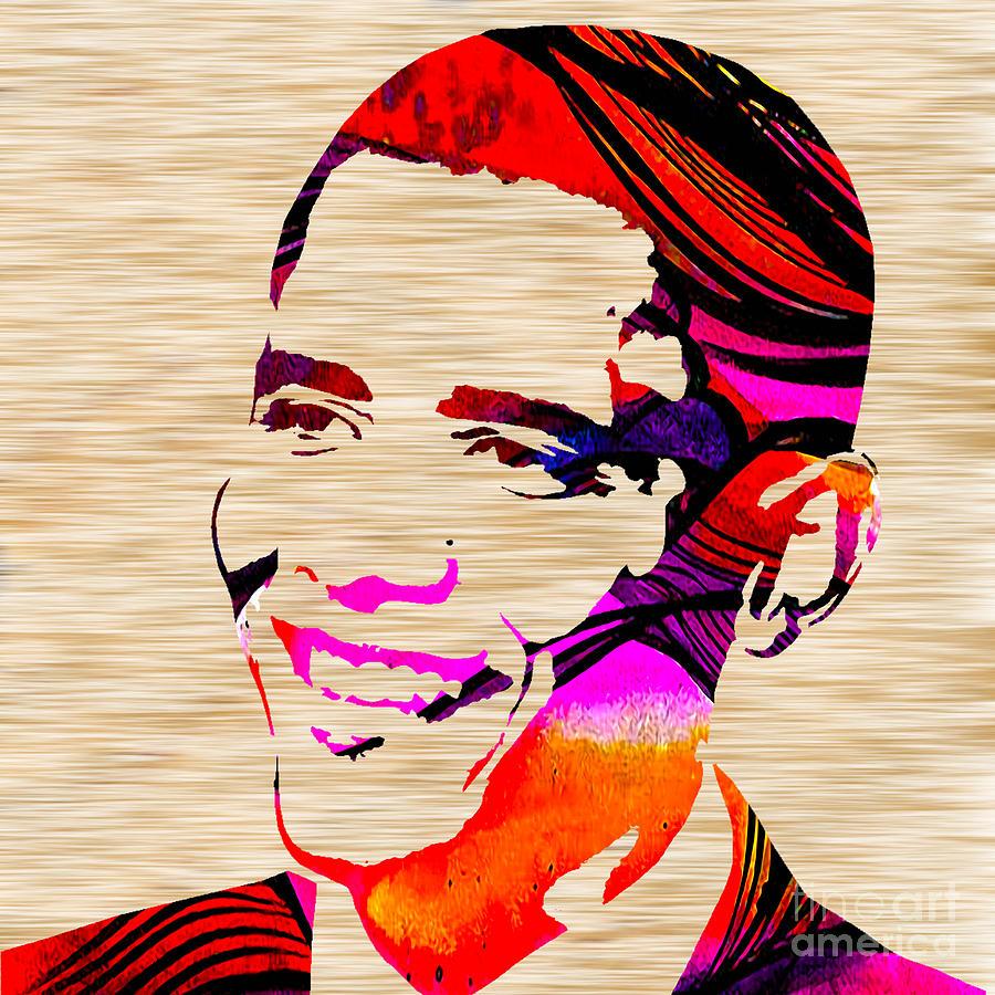 President Barack Obama Paintings Mixed Media Mixed Media Mixed Media Mixed Media - Barack Obama by Marvin Blaine