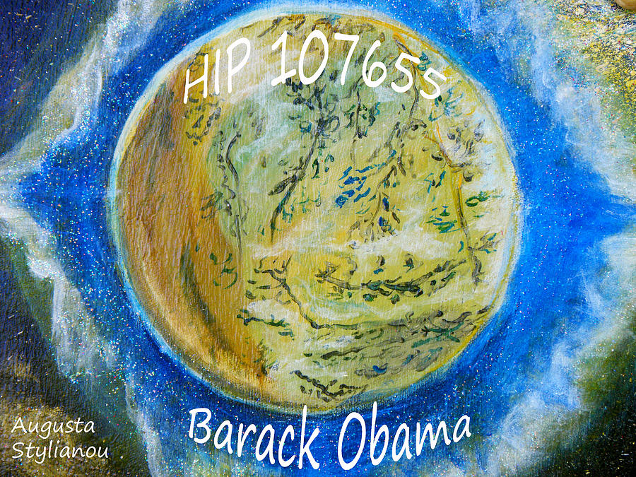 Barack Obama Star Painting