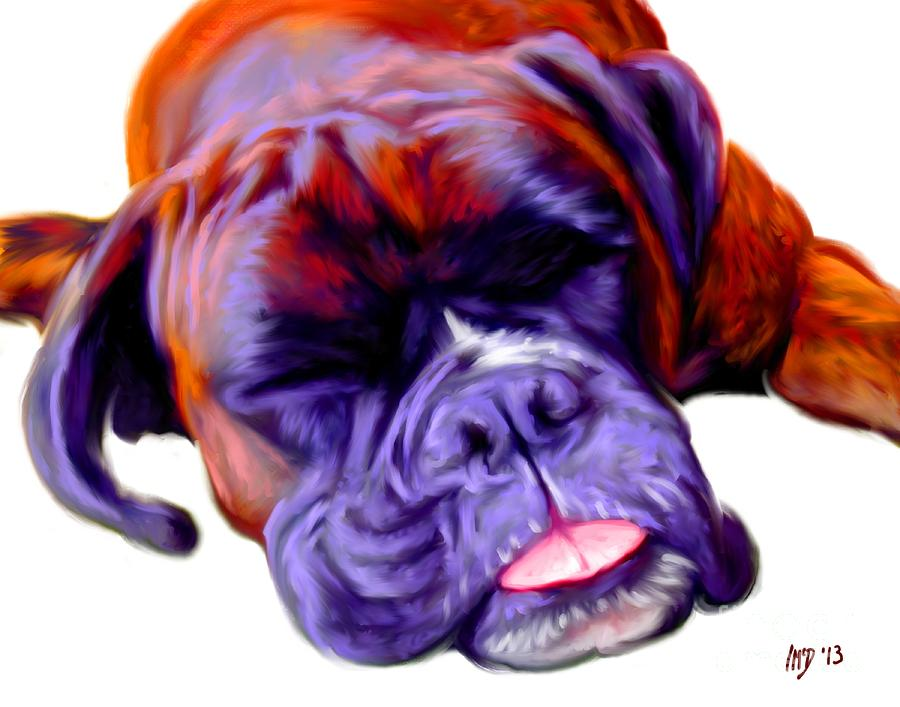 Boxer Dog Art Painting