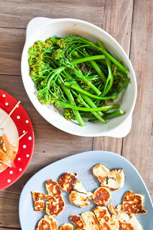 Appetizer Photograph - Broccoli Stems by Tom Gowanlock