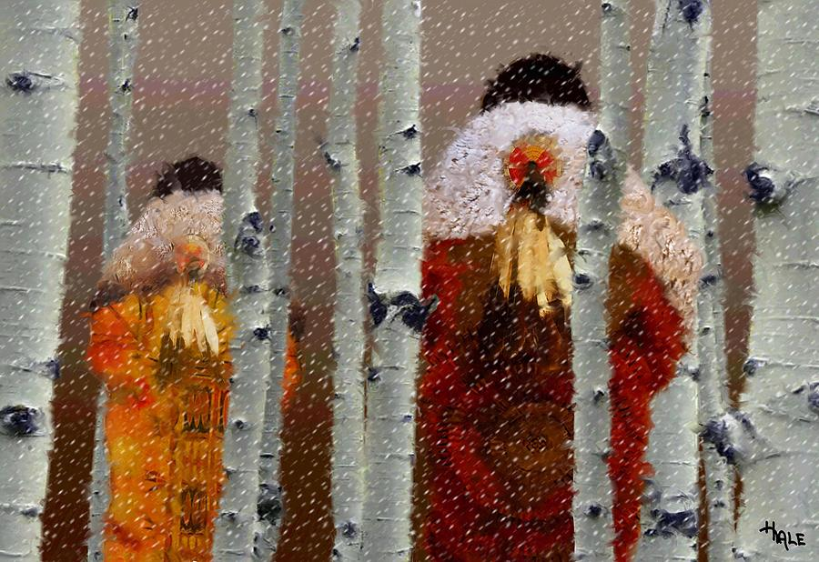 Buffalo Robes In Winter Digital Art  - Buffalo Robes In Winter Fine Art Print