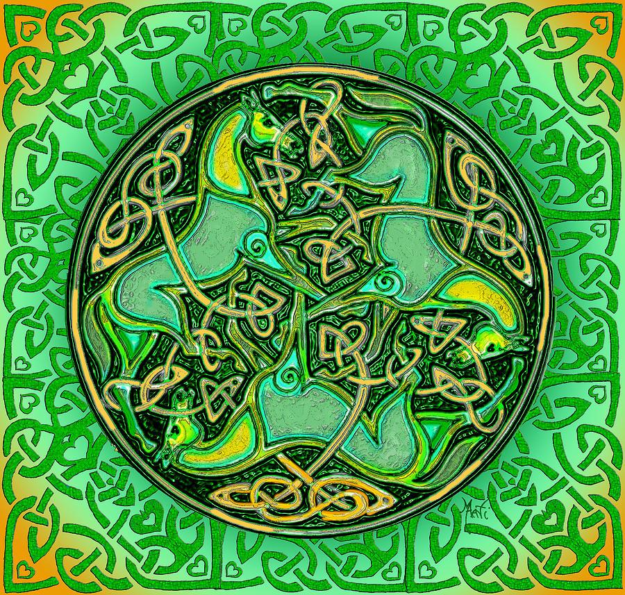 Celtic Irish Horses is a piece of digital artwork by Michele Avanti ...