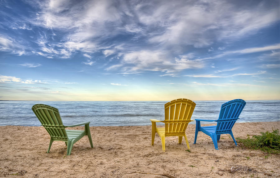 Chairs Photograph - 3 Chairs by Scott Norris