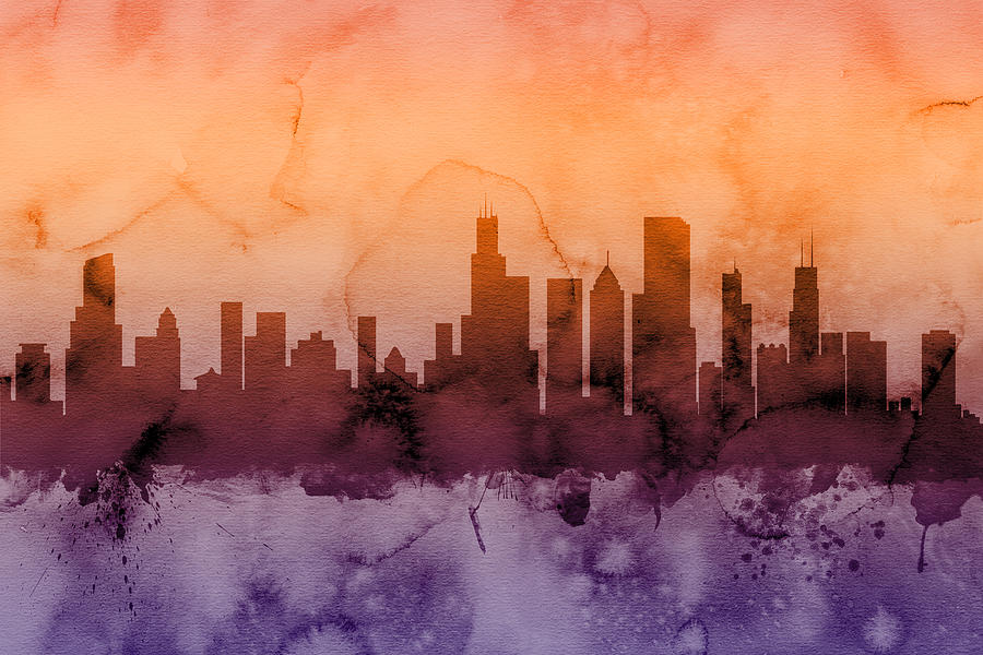 Chicago Illinois Skyline Digital Art