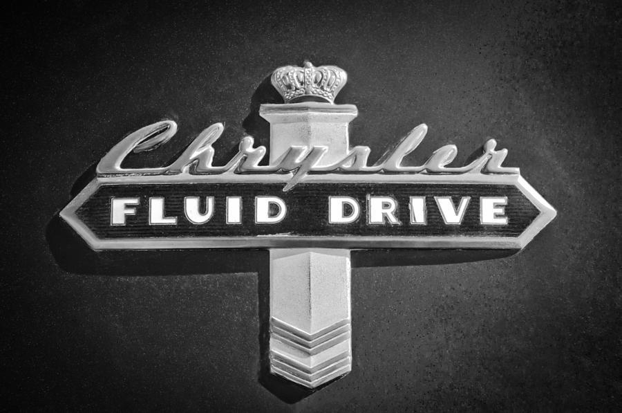 Chrysler Fluid Drive Emblem Photograph