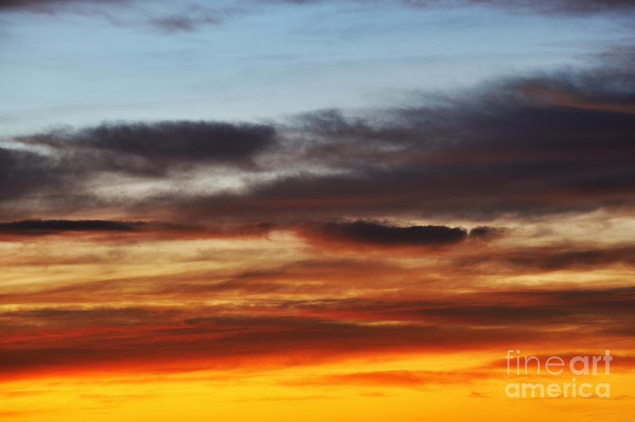 Cloudscape At Sunrise Photograph  - Cloudscape At Sunrise Fine Art Print