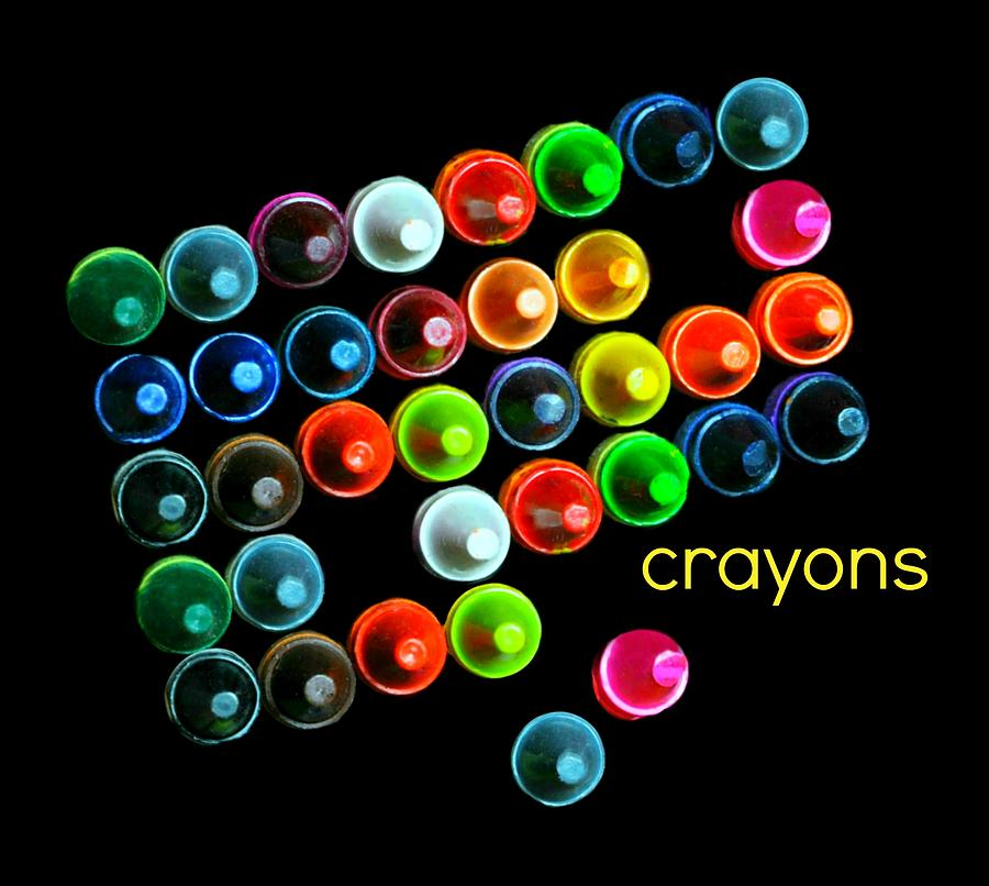 Crayons Photograph - Colorful Wonderful Crayons by Diana Angstadt