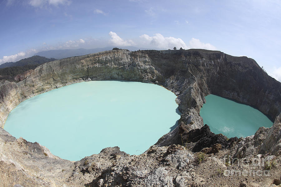 Colourful Crater Lakes Of Kelimutu Photograph