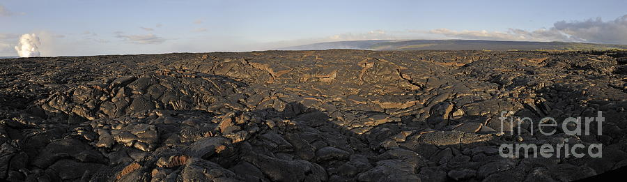 Cooled Pahoehoe Lava Flow Photograph