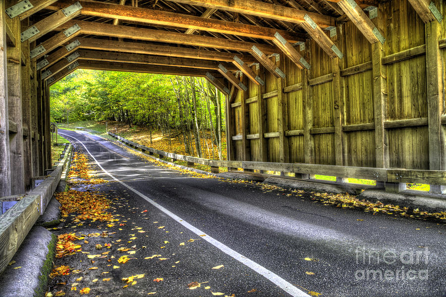 Fall Photograph - Covered Bridge At Sleeping Bear Dunes by Twenty Two North Photography