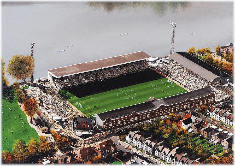 Craven Cottage - Fulham Painting by Kevin Fletcher