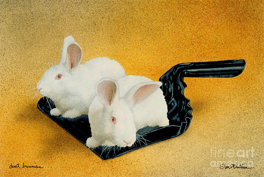 Dust Bunnies... Painting