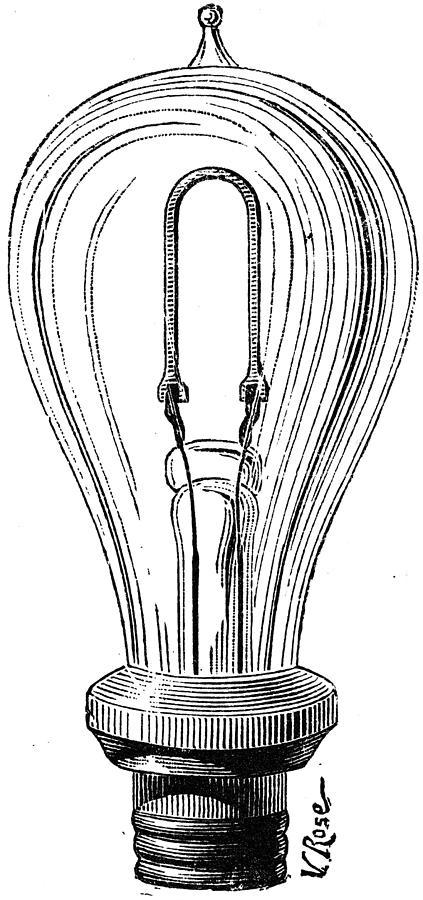 Edison Lamp, 19th Century Photograph