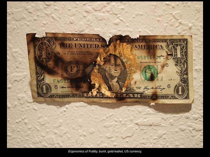 Burning Money Sculpture - Ergonomics by Ian Thomas