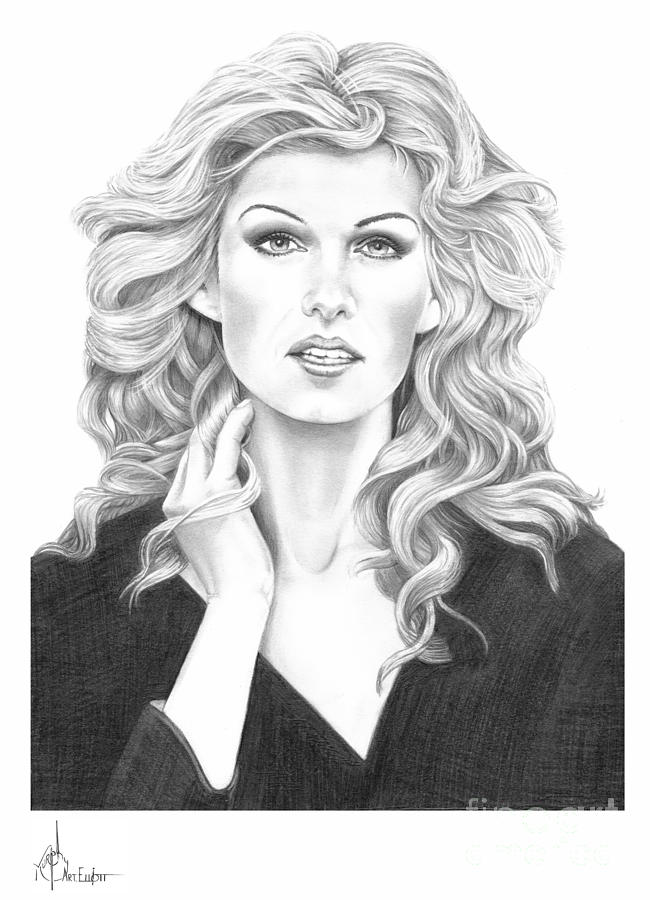 Faith Hill Drawing  - Faith Hill Fine Art Print