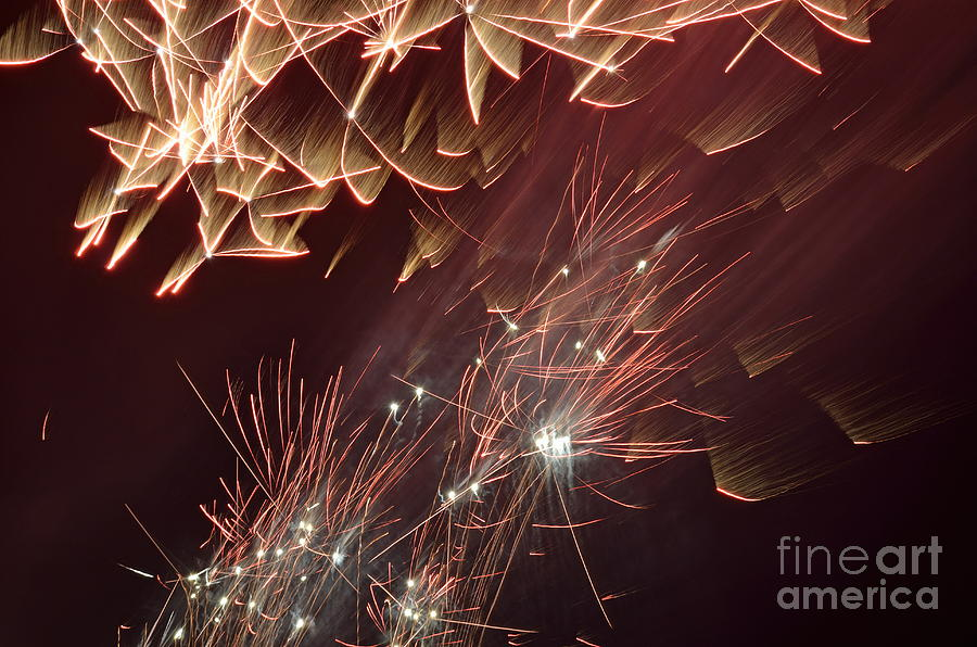 Fireworks On Bastille Day Photograph