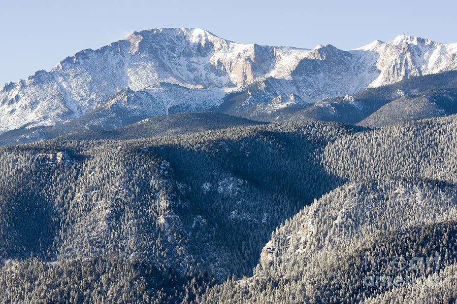 Fresh Snow On Pikes Peak Photograph