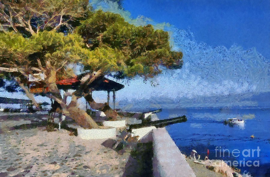 Hydra Island Painting