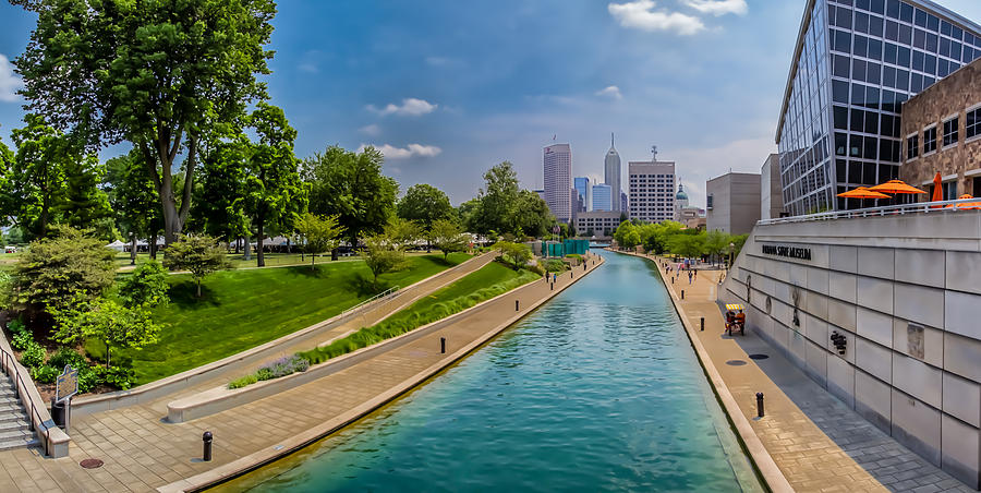 Indianapolis Skyline From The Canal Photograph