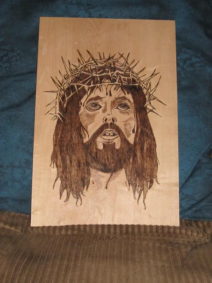 Jesus Crucifixion Pyrography