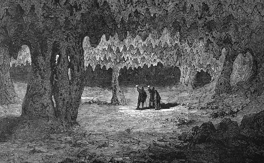 1876 Painting - Kentucky Mammoth Cave by Granger