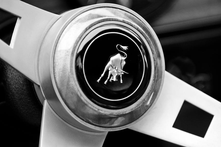 Lamborghini Steering Wheel Emblem Photograph
