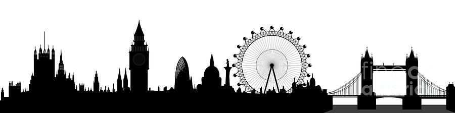 London Skyline Digital Art  - London Skyline Fine Art Print