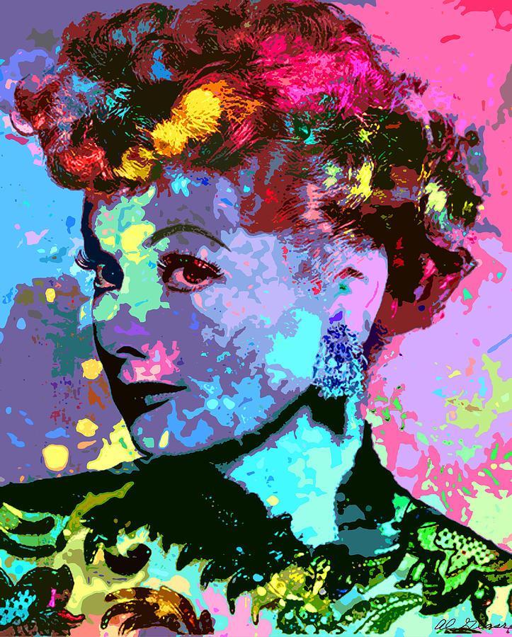 Lucille Ball Digital Art  - Lucille Ball Fine Art Print