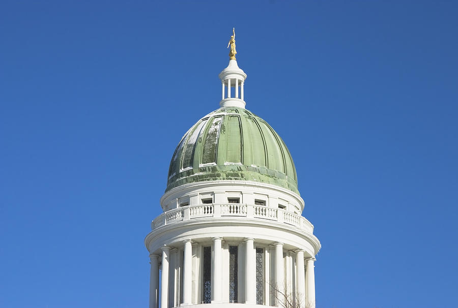 Maine Photograph - Maine State Capitol Building In Augusta by Keith Webber Jr