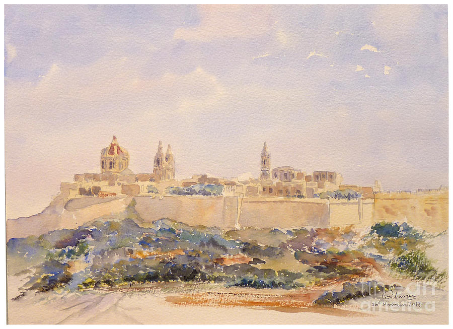 Mdina Skyline Painting