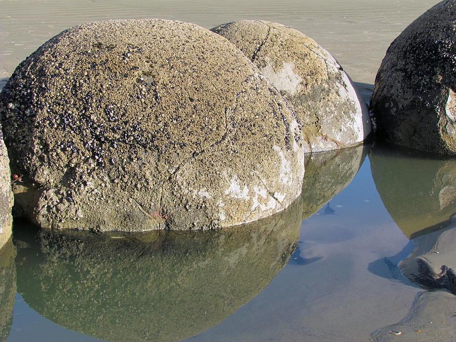 Boulders  Photograph - Moeraki Boulders by Joyce Woodhouse