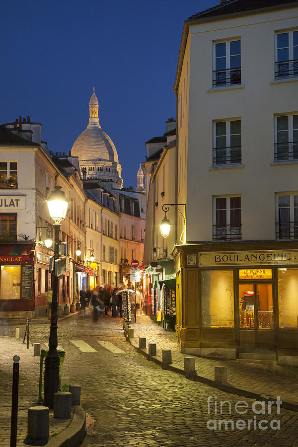 Montmartre Twilight Photograph  - Montmartre Twilight Fine Art Print