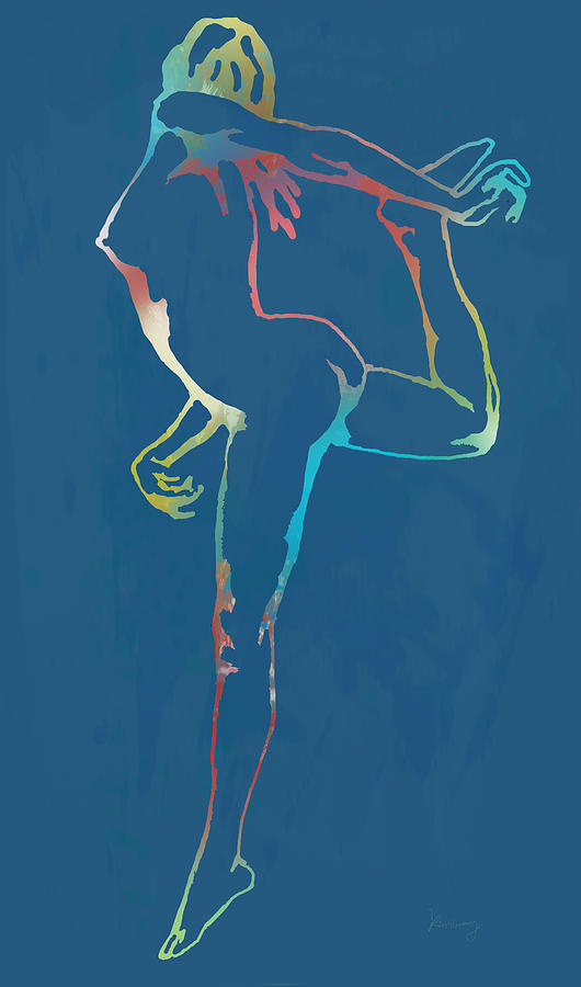 Nude Dancing Pop Stylised Art Poster Drawing