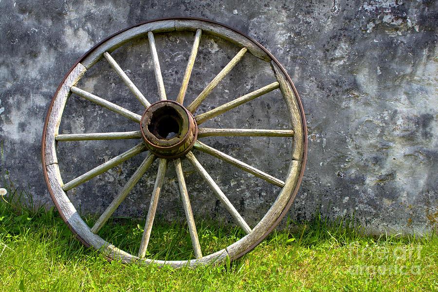 Old Wagon Wheel Photograph