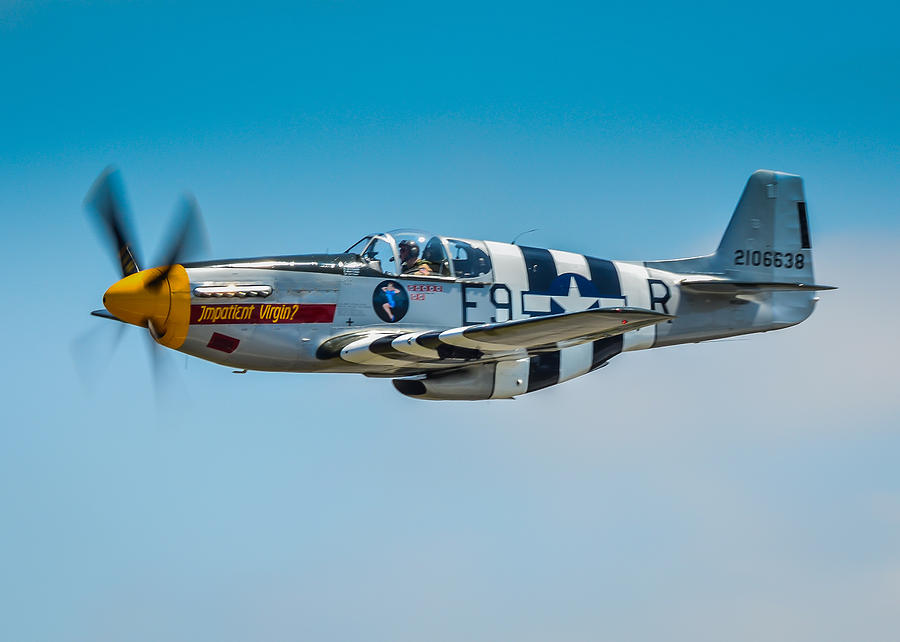 Tags: P51 Photographs Photograph - P-51 Mustang by Puget  Exposure