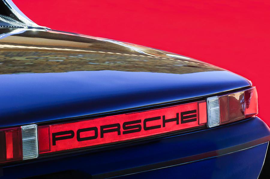 Porsche Taillight Emblem Photograph