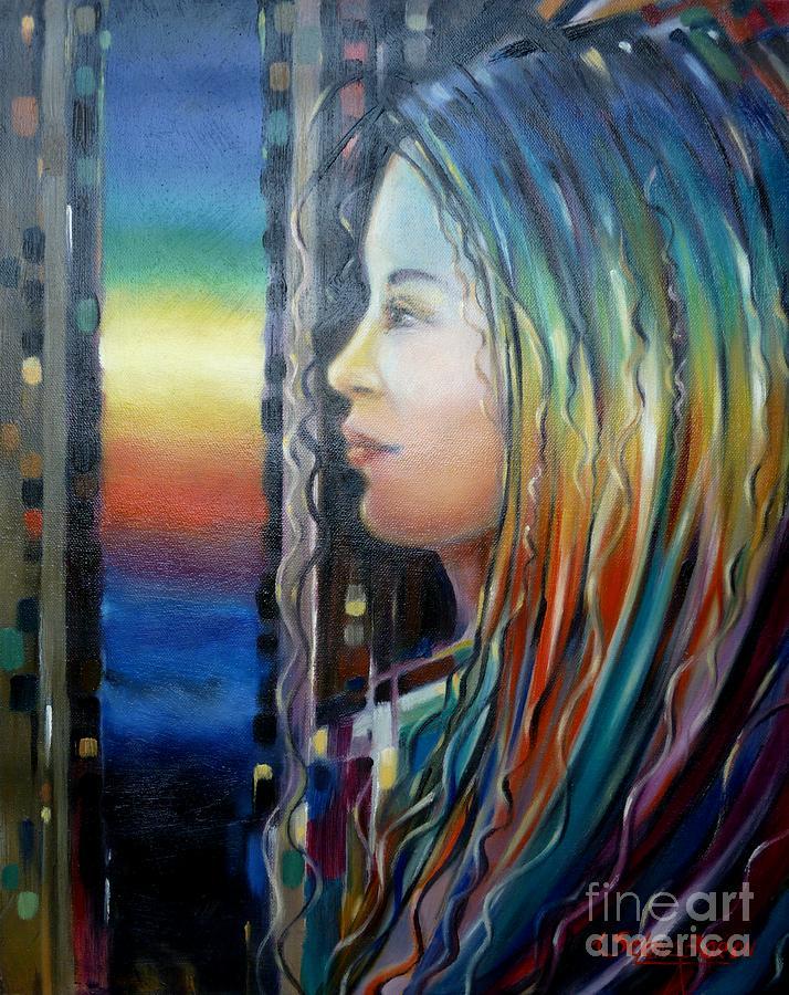 Rainbow Girl 241008 Painting