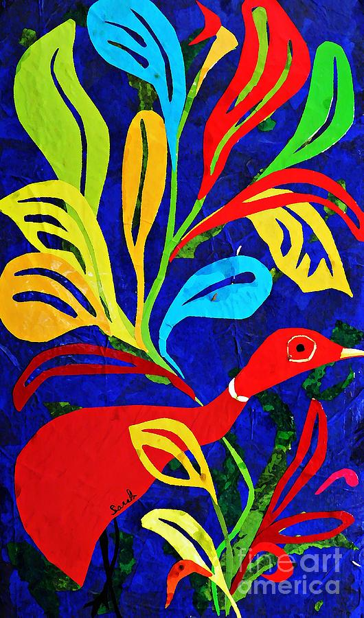 Red Duck Mixed Media  - Red Duck Fine Art Print