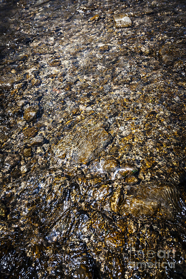Rocks In Water Photograph